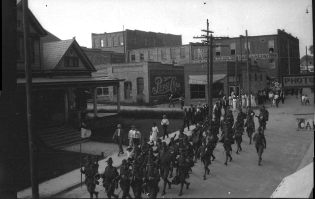 Soldiers Marching on S. Academy St. 1